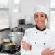 female chef in kitchen