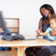woman entrepreneur multi tasking
