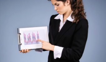business woman presenting data