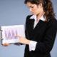 businesswoman presenting data