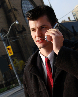 street side businessman